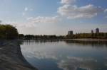 An artificial lake in Martyr Sami Abdul Rahman Park in Erbil.