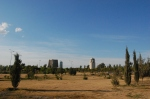 A view of the park in Erbil. It's pretty big.