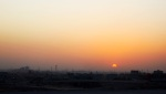 Sunset over Kirkuk.